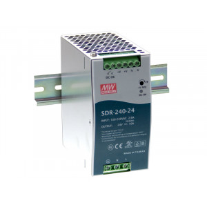 Antaira SDR-240 240W Industrial DIN Rail Power Supply, PFC, 24V or 48V Out