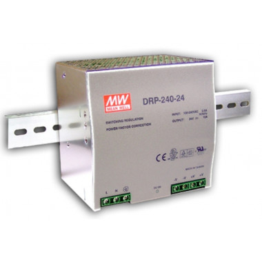 Antaira DRP-240 240W Industrial DIN Rail Power Supply, PFC, 24V or 48V Out