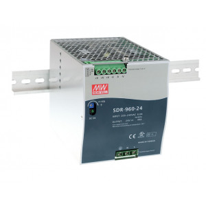 Antaira SDR-960 960W Industrial DIN Rail Power Supply, PFC, 48 VDC Output