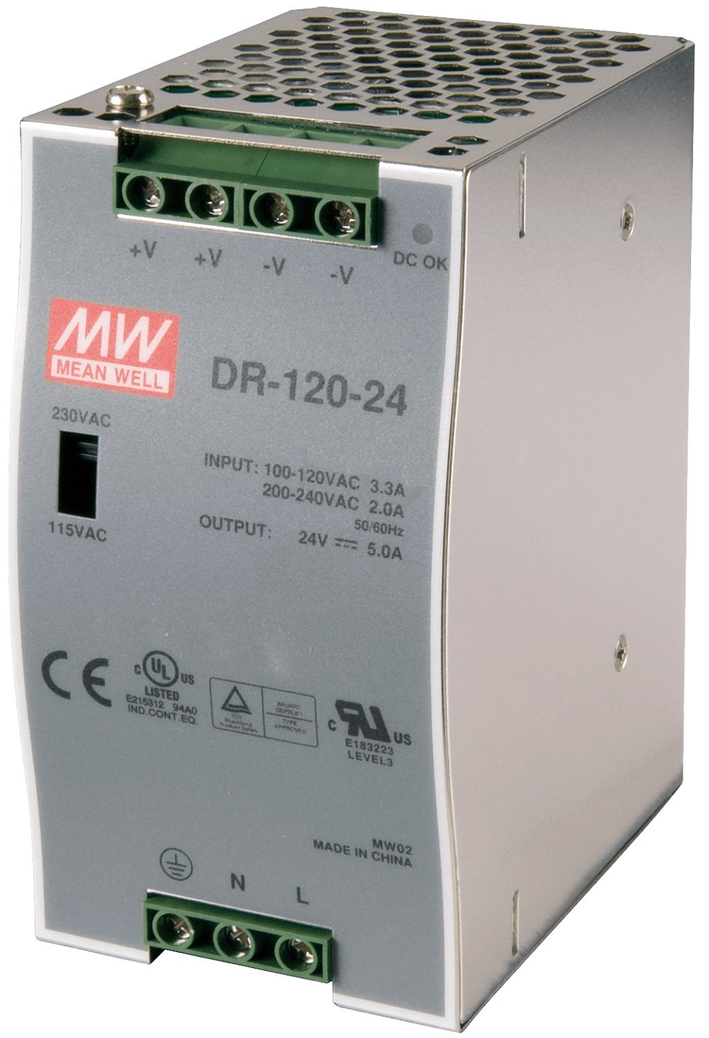 new in box Mean Well DR-120-12//DR12012